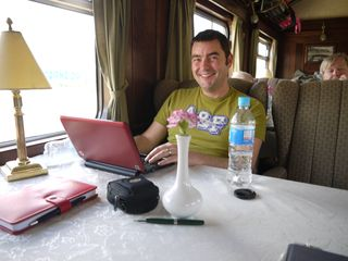 Agatha writing, the train is owned by the orient express!