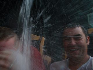 Water ride, I got a cold!