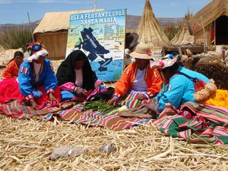 Uros people on the floating islands