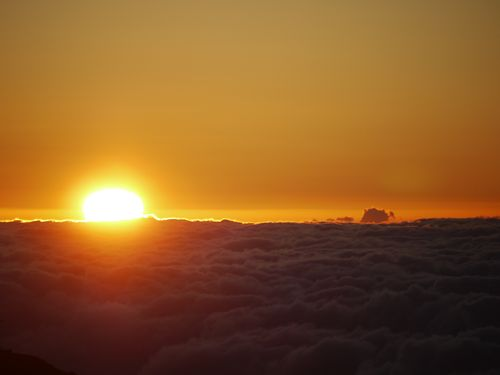 Sunset on the top of the world