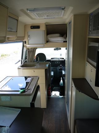 Inside the camper