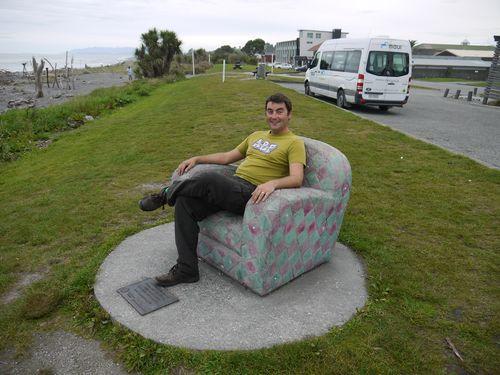 Paul relaxing Hokitika beach