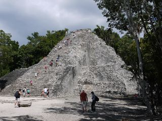 Nohoch Mul, the Coba jungle ruins