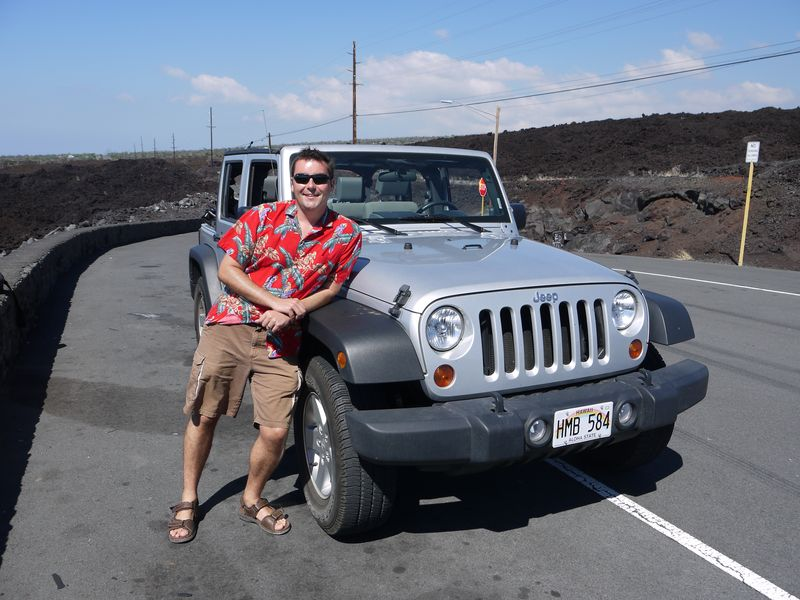 Magnum and his jeep