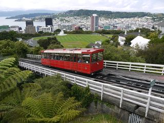 Wellington with the cable car