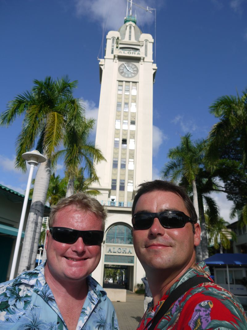 The detectives at the Aloha Tower