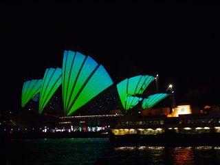 Opera House alight 1