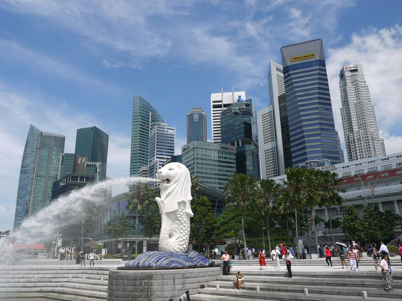 Singapore and the Merlion