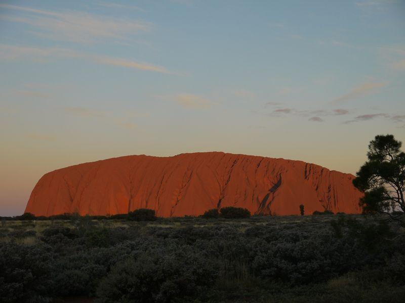 Uluru at sun down