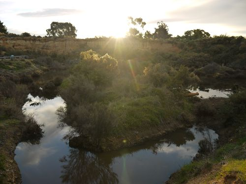 Sunset at the goldfields
