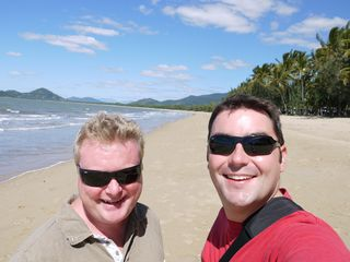 Us at Palm Cove beach