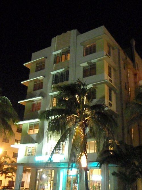 Miami hotel at night